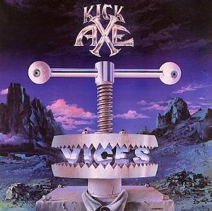 Vices album cover from Kick Axe