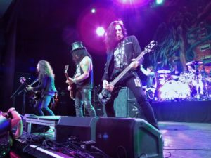 Slash and his band live in concert
