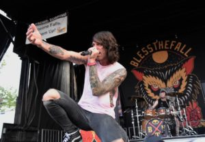 Beau Bokan from Bless The Fall live at Vans Warped Tour