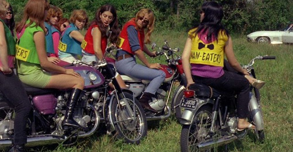 A Scene from the movie She Devils On Wheels