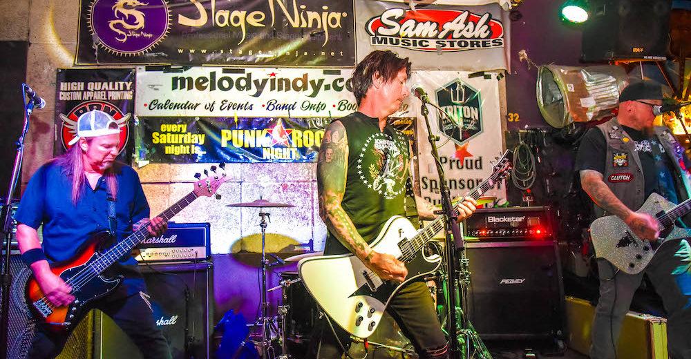 (From left) Bassist Ritchie Wilkinson, guitarist/vocalist Wayne Griffith, and guitarist/vocalist Steve Boyles.